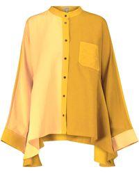 Loewe Hemd aus Faille - Gelb