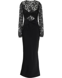 Rasario Lace And Crêpe Gown - Black