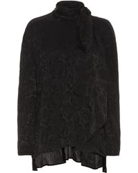 Chloé Silk-blend Floral Jacquard Blouse - Black