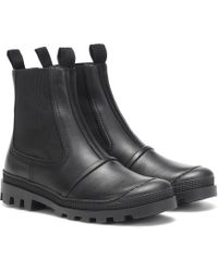 Loewe Leather Ankle Boots - Black