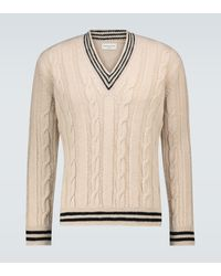 Dries Van Noten Pullover aus Wolle - Natur