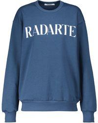 Rodarte Logo Cotton Sweatshirt - Blue