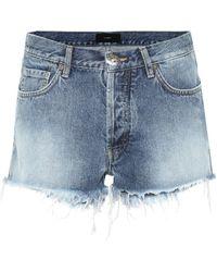 Alanui Mini-short en jean à perles - Bleu