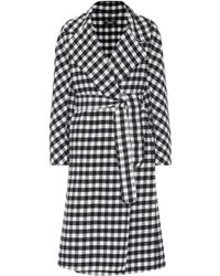 Max Mara Zanora Checked Virgin Wool Coat - Multicolour
