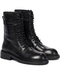 Ann Demeulemeester Ankle Boots aus Leder - Schwarz