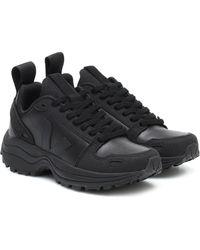 Rick Owens X Veja Sneakers aus Lederimitat - Schwarz