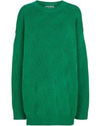 Balenciaga Pullover aus Baumwolle - Grün
