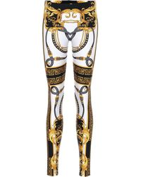 Versace Bedruckte Leggings - Mehrfarbig