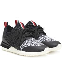 Moncler Logo Print Sneakers - Black