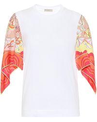 Emilio Pucci T-shirt imprimé en coton - Multicolore