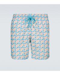 Vilebrequin Moorea Printed Swim Shorts - Blue