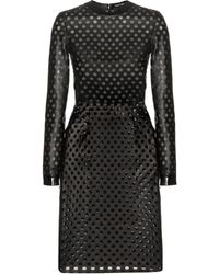 Tom Ford - Perforated Leather Dress - Lyst