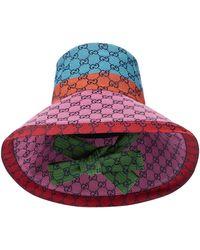 Gucci Chapeau en jacquard de coton mélangé - Multicolore