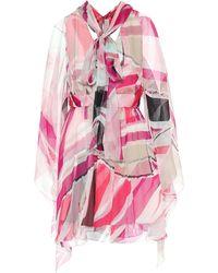 Emilio Pucci Printed Silk Dress - Pink