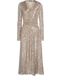 ROTATE BIRGER CHRISTENSEN Sierra Sequined Maxi Dress - Metallic