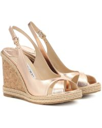 Jimmy Choo Amely 105 Platform Wedge Sandals - Multicolour