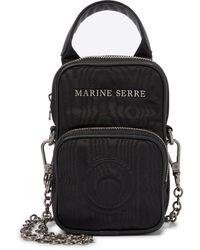 Marine Serre Mini Moiré Belt Bag - Black