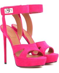 Givenchy Shark Suede Plateau Sandals - Pink