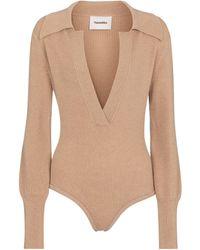 Nanushka Exclusive To Mytheresa – Azha Ribbed-knit Bodysuit - Natural