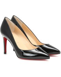Christian Louboutin Pigalle 85 Patent-leather Pumps - Black