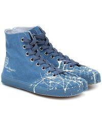 Maison Margiela Sneakers Tabi in canvas - Blu