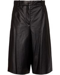 JOSEPH Teresa Leather Culottes - Black