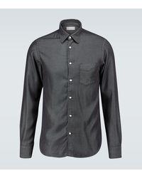 Officine Generale Camisa de jeans Benoit - Negro