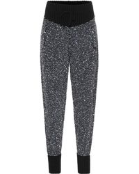 Alessandra Rich - Sequined Cashmere-blend Trackpants - Lyst