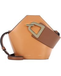 Danse Lente Mini Johnny Leather Bucket Bag - Brown
