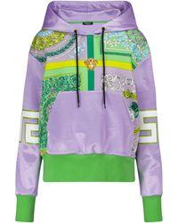 Versace Barocco Jersey Hoodie - Multicolor