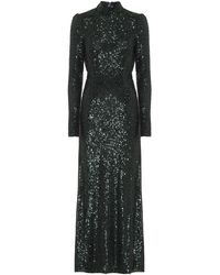 Galvan London Modern Love Sequined Gown - Green