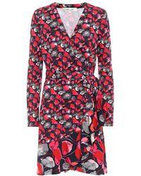 Diane von Furstenberg Abito a portafoglio Elita in seta - Rosso