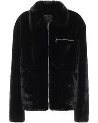 RTA Reese Faux-fur Jacket - Black