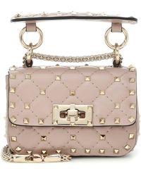 Valentino Garavani Rockstud Spike Micro Crossbody Bag - Pink
