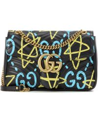 Gucci | Ghost Gg Marmont Medium Leather Shoulder Bag | Lyst