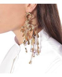 Valentino Garavani Einzelner Ohrring mit Kristallen - Mettallic