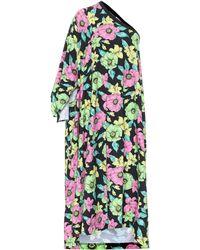 Balenciaga Floral Cotton Dress - Green