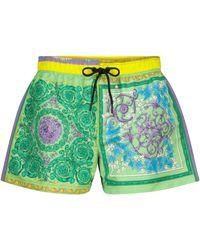 Versace Bedruckte Shorts Barocco - Lila
