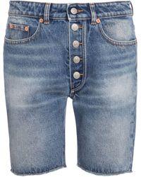 MM6 by Maison Martin Margiela High-rise Denim Shorts - Blue