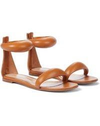 Gianvito Rossi Bijoux Leather Sandals - Brown