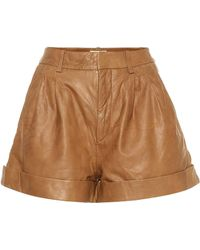 Étoile Isabel Marant Abot High-rise Leather Shorts - Brown