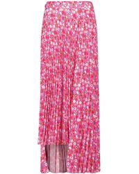 Balenciaga Bedruckter Maxirock aus Crêpe - Pink