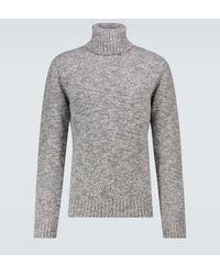 Dolce & Gabbana Jersey Pull Collo Alto - Gris