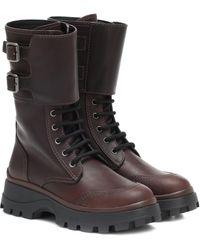 Miu Miu Leather Boots - Multicolour
