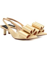 Marc Jacobs Satin Slingback Court Shoes - Yellow