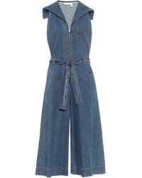 See By Chloé Denim Stretch-cotton Jumpsuit - Blue