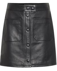 FRAME Jupe Patch Pocket en cuir - Noir