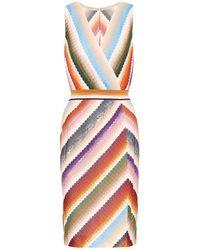 Missoni Abito midi a righe in misto cotone - Multicolore