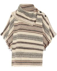 Étoile Isabel Marant Poncho Jacoya a righe in tweed - Multicolore