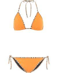 Burberry Bikini triangle Vintage Check - Orange